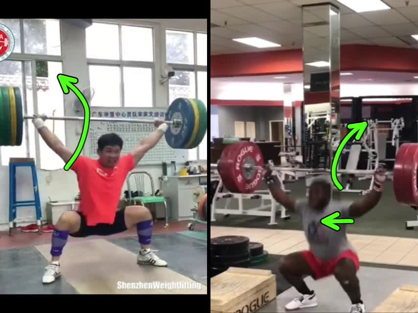 Lifting over head snatche extend curve