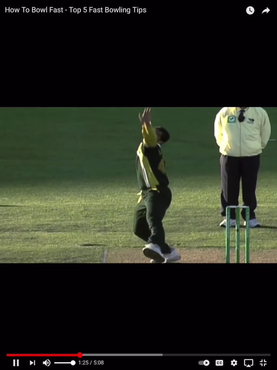 cricket fast bowler make space